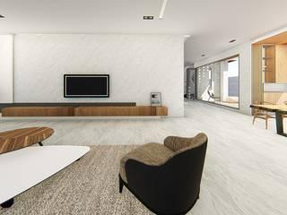 L House_室內設計:  客廳 by 尋樸建築師事務所