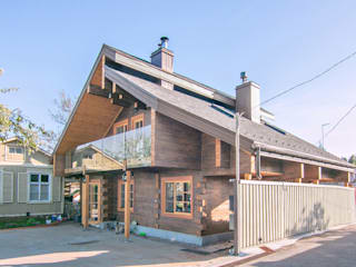 Casas de madera de estilo  por Coliba architects, Escandinavo