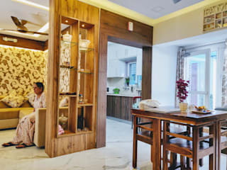 Residence interiors at Chandigarh Modern living room by ARC INDUSTRIES Interior Design Modern