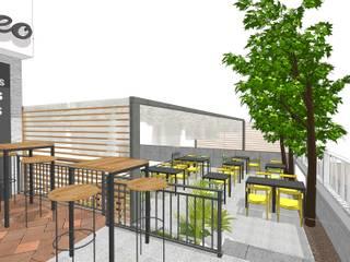 Reforma de cafetería Bares y clubs de estilo mediterráneo de PROYECTA ARQUITECTURA INTERIOR Mediterráneo