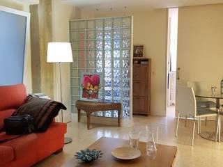 Vivienda loft Salones de estilo ecléctico de PROYECTA ARQUITECTURA INTERIOR Ecléctico