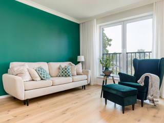 Mieszkanie we Wrocławiu: styl , w kategorii Salon zaprojektowany przez Monika Staniec Interior Design