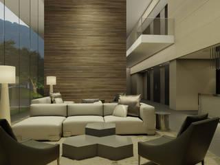 Levana Sky Homes: Pasillos y recibidores de estilo  por camargo arquitectos