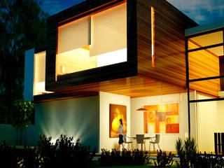 VISTA EXTERIOR.: Casas de estilo  por ESQUEMA Donde Surgen las Ideas