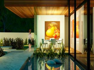 DETALLE EN ACCESO.: Casas de estilo  por ESQUEMA Donde Surgen las Ideas