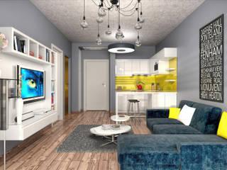 ONTAN BAYRAKLI RESIDENCE Modern Oturma Odası PRODİJİ DİZAYN Modern