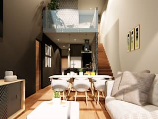 Столовая комната в стиле модерн от Taller NR Arquitectura Модерн