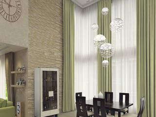 Частный дом в стиле контемпорари: Гостиная в . Автор – PolyArt Design,