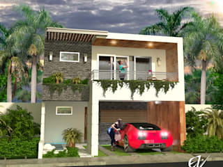 Fachada Resiencia: Casas de estilo  por Eduardo Zamora arquitectos