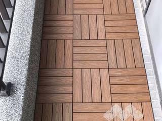 Scandinavian style balcony, veranda & terrace by 新綠境實業有限公司 Scandinavian