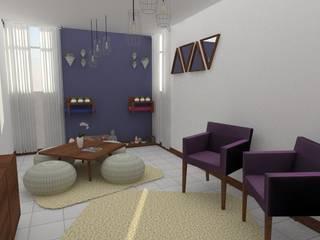 Departamento en Coyoacán Salones modernos de 78metrosCuadrados Moderno