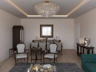 Salas de estar clássicas por Dündar Design - Mimari Görselleştirme Clássico