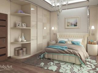 Частный дом в Ейске.: Спальни в . Автор – PolyArt Design,