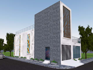 Elevation options Modern Houses by Gurooji Designs Modern