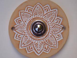 Türklingel aus Keramik:  Fertighaus von Keramikwerkstatt Johanna Brückner