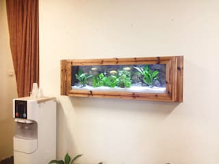 Contemporary Wooden Frame 5 feet Wall Mounted Aquarium:   by Seazone Innovative Sdn Bhd