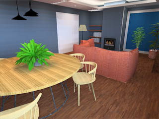 Ruang Makan Modern Oleh PE. Projectos de Engenharia, LDa Modern