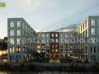 Casas multifamiliares de estilo  por Yantram Architectural Design Studio
