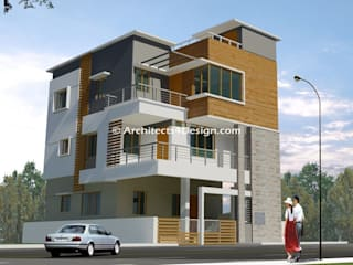 A4 Architects & Building contractors in Bangalore offers House plans, Elevation, Building construction, Interior design, Construction services etc..:  Houses by A4 ARCHITECTS IN BANGALORE