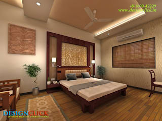 Bed room interior design for Villa :   by Designclick