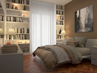 CAMERE - Render fotorealistici d'interni Camera da letto moderna di Insighters Computer Graphics Moderno