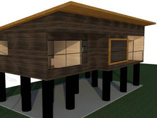 Diseño Casa 80 por Lobería Arquitectura: Casas unifamiliares de estilo  por Loberia Arquitectura