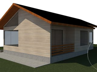 Diseño de Casa Gomez por Lobería Arquitectura: Casas unifamiliares de estilo  por Loberia Arquitectura