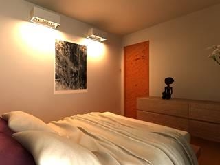 VIVIENDA CONTENEDOR Habitaciones de estilo minimalista de URCODI Minimalista