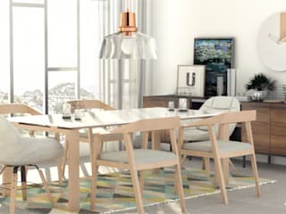 Eclectic style dining room by Más Interorismo Eclectic