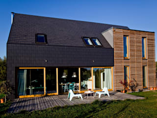 Casas modernas de Majchrzak Pracownia Projektowa Moderno