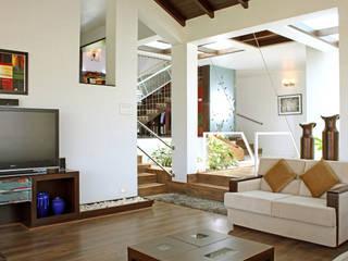 Kalburgi Residence Modern living room by Kembhavi Architecture Foundation Modern