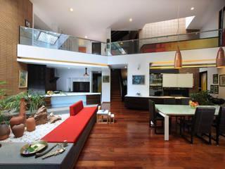 Kembhavi Residence Modern living room by Kembhavi Architecture Foundation Modern