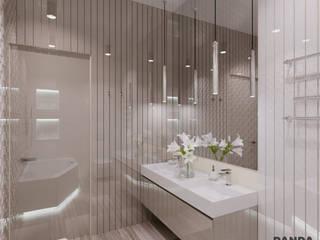 Светлый и стильный интерьер. : Ванные комнаты в . Автор – дизайн-студия PandaDom