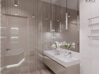 Светлый и стильный интерьер. Ванная комната в стиле модерн от дизайн-студия PandaDom Модерн