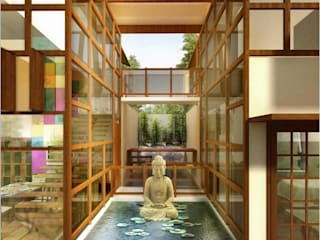 farm house Asian style pool by Vinyaasa Architecture & Design Asian