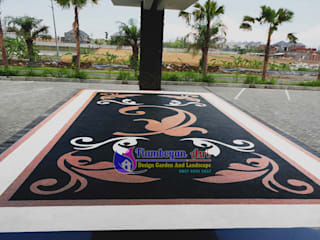 Desain Carport Batu Sikat - Tukang Taman Surabaya:   by Tukang Taman Surabaya - flamboyanasri