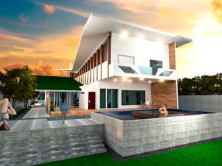 Fachada Resiencia: Casas ecológicas de estilo  por Eduardo Zamora arquitectos,