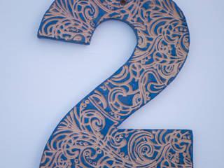 Hausnummer aus Keramik: mediterrane Häuser von Keramikwerkstatt Johanna Brückner