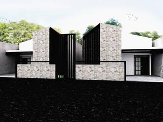 Rumah Putih Amanah r.studio Rumah kecil Beton White
