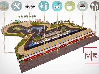Propuesta visual pista Moto-velocidad Arena Blanca.:  de estilo  por Mar3 - Arquitectos