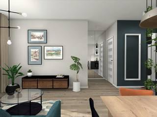 MIESZKANIE W KRAKOWIE: styl , w kategorii Salon zaprojektowany przez AP interiors,
