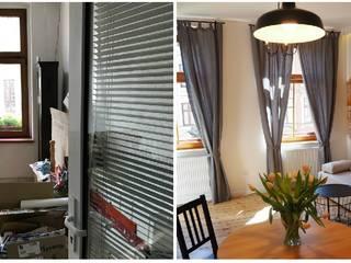 Metamorfoza mieszkania w starej kamienicy - adaptacja i aranżacja pomieszczeń. Remont generalny. od MOMA HOME