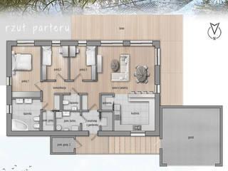 Projekt domu HG 01 passive od Hexa Green Projekty domów pasywnych Nowoczesny