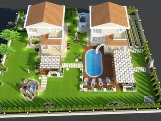 Mimari 3D Render  – Geyikli Willa Peyzaj Projesi:  tarz Bahçe