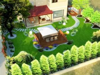 Mimari 3D Render  – Peyzaj Projesi - Çanakkale/Güzelyalı:  tarz Bahçe