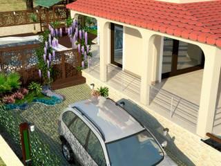 Mimari 3D Render  – Willa Peyzaj Projesi - Çanakkale Yapıldak:  tarz Bahçe
