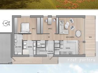 Projekt domu HG 10 energo+ od Hexa Green Projekty domów pasywnych Nowoczesny