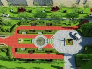 Mimari 3D Render  – Porto Caeli Bağcılık ve  Otel Peyzaj Öneri Projesi -Çanakkale/Gelibolu:  tarz Bahçe