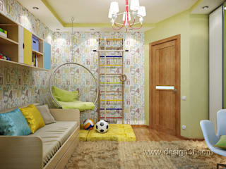 студия Design3F Nursery/kid's room Yellow