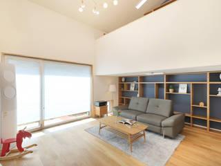 오픈형 거실: 주택설계전문 디자인그룹 홈스타일토토의  거실